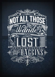 View the typography poster design #wonder #type #poster #baggins