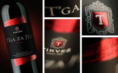 Wine Label: T'ga za Jug (Longing for the South) #tikvesh #packaging #design #wine #tga #jug #poetry #za #tikves #foil