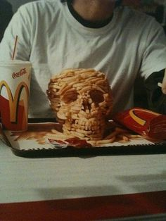 Skull Fries #art #skull #photo #fast food