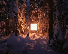 Alternatives Landscapes on Behance #snow #square #light #nature #trees #cube