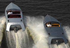 silverstris, speedboat, boat, vehicle, silver, simple, clean, modern, retro