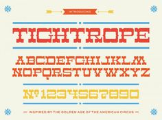 Lost Type Co-op | Tightrope #op #circus #type #co #alonzo #felix #lost #typography