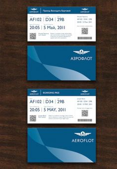Doug Sheets | Aeroflot #print #branding #ticket