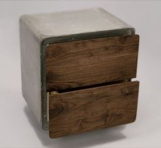 WANKEN - The Blog of Shelby White #wood #concrete #cabinet