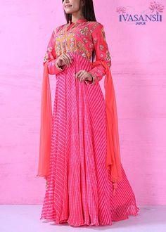 Vasansi Pink Georgette Anarkali Suit