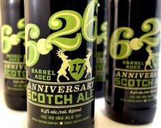 Russell 6.26 17 Anniversary Barrel Aged Scotch Ale #packaging #beer #label #bottle