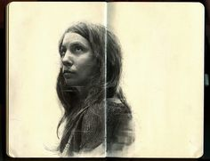 Graphite Portraits of Friends by Thomas CianJanuary 8, 2014 #woman #sketchbook #illustration #portrait #sketch