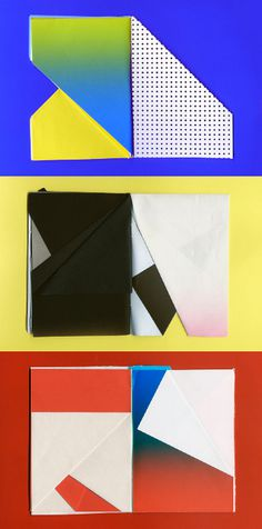 Laura Knoops | Graphic design #fold #process #color #paper #notebook #colour