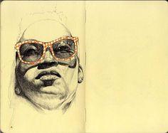 Donny Nguyen - BOOOOOOOM! - CREATE * INSPIRE * COMMUNITY * ART * DESIGN * MUSIC * FILM * PHOTO * PROJECTS #glasses #sketchbook #donny #nguyen #face #sketch
