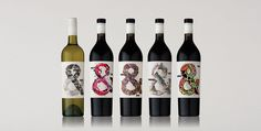 Hither & Yon Packaging #typography #packaging #wine #ampersand #bottle