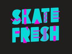 1980, skateboarding, type