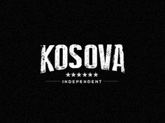 Kosova #republic #old #black #stars #identity #typeface #grunge #type