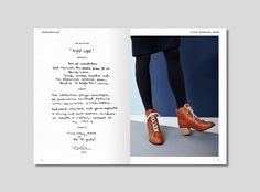 Terhi Pölkki A/W 2016 look book. Design Tony Eräpuro #lookbook #fashion #finland #shoes #layout