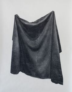 Veil by Eli Horn Charcoal on paper #art #drawing #charcoal #paper #still life #fabric #black