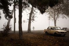Matt Lutton on the Danube River in Serbia #fog #belgrade #danube #photo #serbia #travel #river