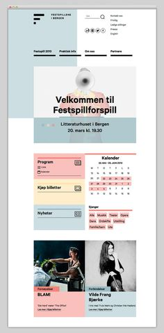 Bergen International Festival #website #layout #design #web