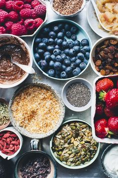 Likes | Tumblr #ingredients #raspberries #blueberries #raisins