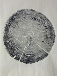 Tree #woodcut #wood #ink #log