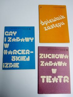 Children activity books from Poland, 1984 & 1985 | Flickr - Photo Sharing! #lubalin #print #books #typography