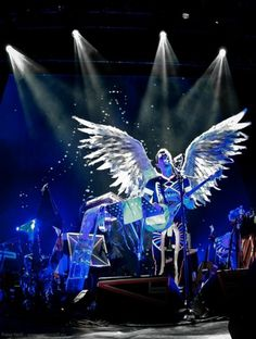 Sufjan Stevens-26.jpg | Flickr - Photo Sharing! #wings #stevens #lights #hipster #sufjan #angel #indie #show #music #blue