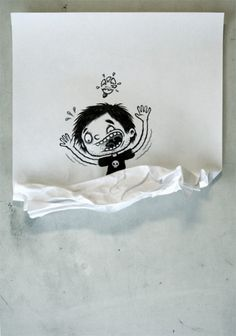 Michael Hacker Illustration » Blog Archive » Aus dem Mistkübel #inspiration #doodle #illustration #idea #shatter #crumple