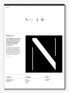 Logo and website created by Graphical House for interior design consultancy Noam