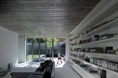 "Image Spark Image tagged ""architecture"", ""interior design"", ""minimal"" pichperney #libraries #bookcases #interiors"