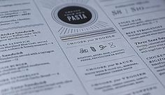 kyle poff - Krop Creative Database #menu #direction #identity #art #typography