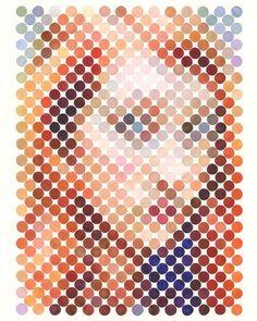 Nathan Manire | PICDIT #design #art #portrait #painting #circle