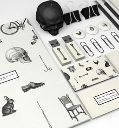 Michaels Guide To Life on Behance #skull #identity #engravings