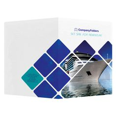 Cruise Ship Adventure Presentation Folder Template (Front and Back View)