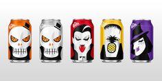 cans, soda, fanta, halloween