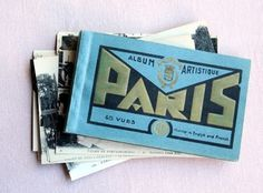 Google Reader (1000+) #paris #album #vintage #french #gold #type #blue #postcards