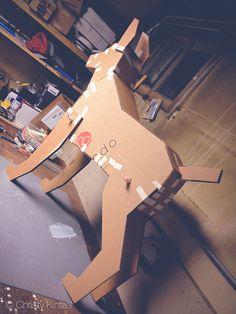 Tumblr, doberman.photos, shinyblackdeer #doberman #cardboard #dog