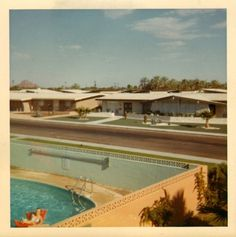 All sizes | gmas_neighborhood_1966 | Flickr - Photo Sharing! #polaroid #pool #vintage #motel #swimming #1960