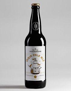 Underground Beer Club Bottle #packaging #beer #label