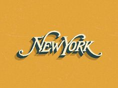 NY by Steve Wolf #logo #nyc #vintage #typography