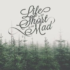Life is too Short to say Mad #typography hand lettering