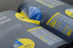 Clean #infographics #annual #report #layout #colour