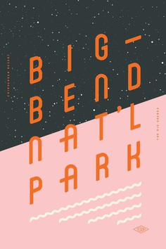Type Hike: typographic posters that celebrate American national parks