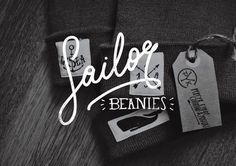 sailor beanies #logotype #whale #sailor #brand #identity #beanies #fashion #typography