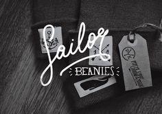 sailor beanies http://www.behance.net/pykcyk #logotype #whale #sailor #brand #identity #beanies #fashion #typography