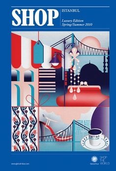 SHOP SS/2010 « Studio8 Design #shop #cover #illustration #istambul #blue #studio8 #magazine