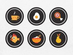 Dribbble - Blindfood App Badges by Burcu Dayanıklı #app #vector #icon #food #badges