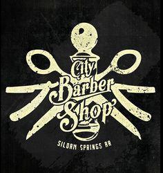 Barber Shop Poster on Behance #white #shop #barber #design #black #logo #men #and #type #razor #style #typography