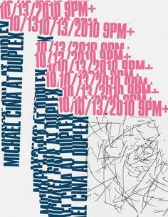 Duplex Poster 3 | Flickr - Fotosharing! #typography #design #graphic #poster #cina #michael