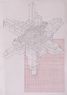 Planetary Folklore: Cascolab #grid #abstract #drawing #rento van drunen