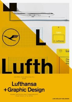 Lufthansa and Graphic Design — Lars Müller Publishers #lufthansa #graph #yellow #germany