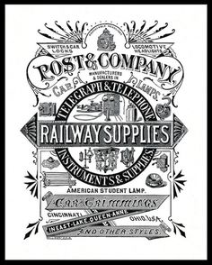 Post & Company | Sheaff : ephemera #woodcut #advert #vintage
