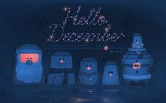 Hello December wallpaper by James Oconnell | Flickr #festive #christmas #illustration #december #wallpaper #typography